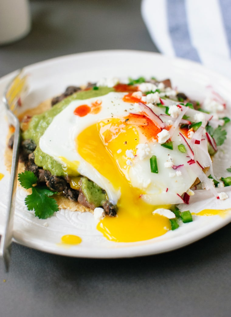 Image: Huevos Rancheros with Avocado Salsa Verde