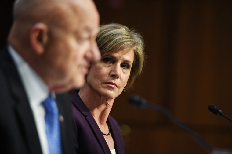 Image: Yates and Clapper testify before the U.S. Senate Judiciary Committee on Capitol Hill