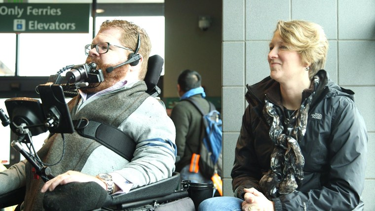 """""""You can be who you want to be. This technology just allows you to be you in your story. And that's pretty awesome,"""" said quadriplegic Todd Stabelfeldt."""