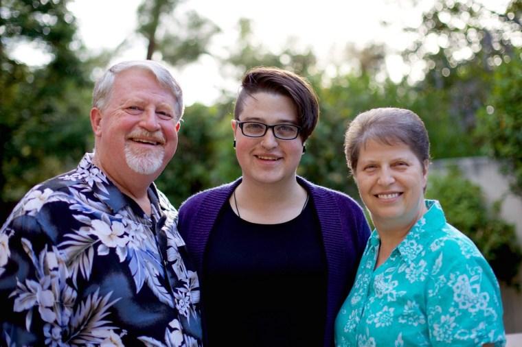 Pastor Kris Widmer, Debbie Widmer, and Teagan Widmer