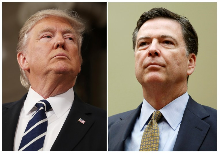Image: FILE PHOTO: A combination photo shows U.S. President Donald Trump and and FBI Director James Comey in Washington