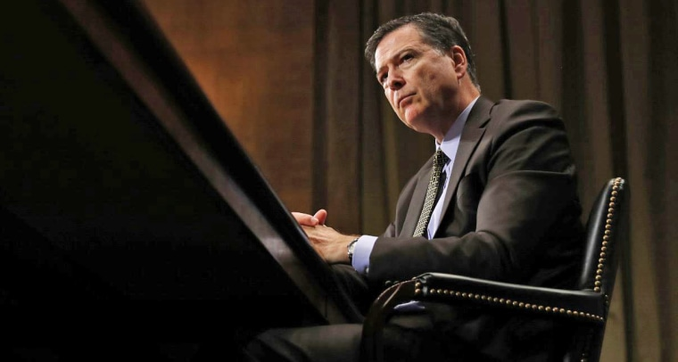 FBI Director James Comey pauses as he testifies on Capitol Hill on May 3 before the Senate Judiciary Committee.
