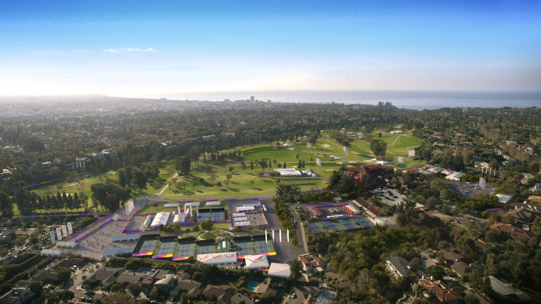 Image: Los Angeles' Olympic bid committee rendering shows how golf at Riviera County Club would look like after receiving an Olympics-style makeover