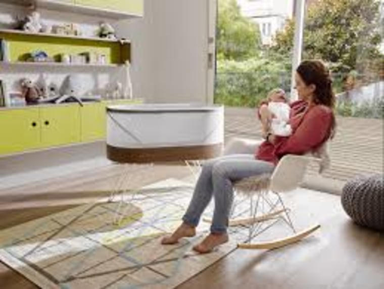 The Snoo is a smart sleeper that creates motion and plays sounds to help get baby to sleep.