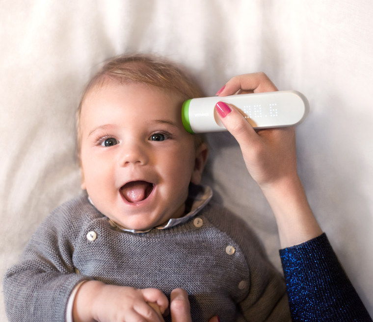 The Withings Thermo is an FDA-approved thermometer that syncs to your smartphone so you can keep track and easily share info with a pediatrician.