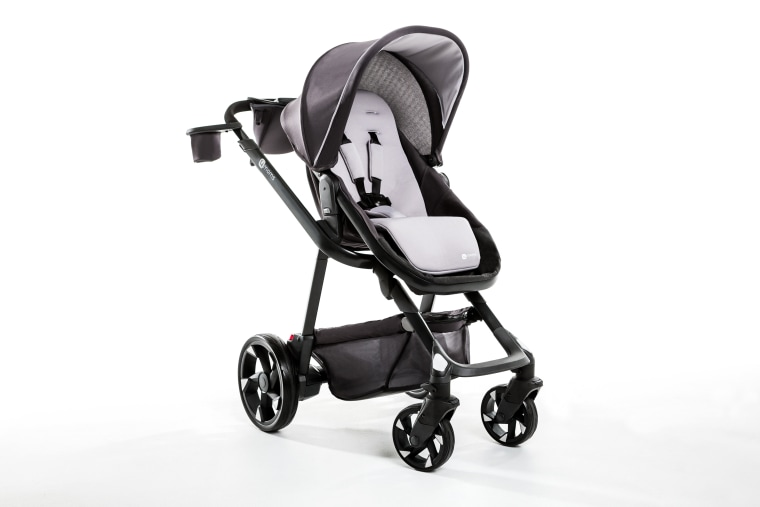 The Moxi Stroller has generators in the rear wheels to convert every step you take into usable energy to charge your phone or turn on stroller headlights.