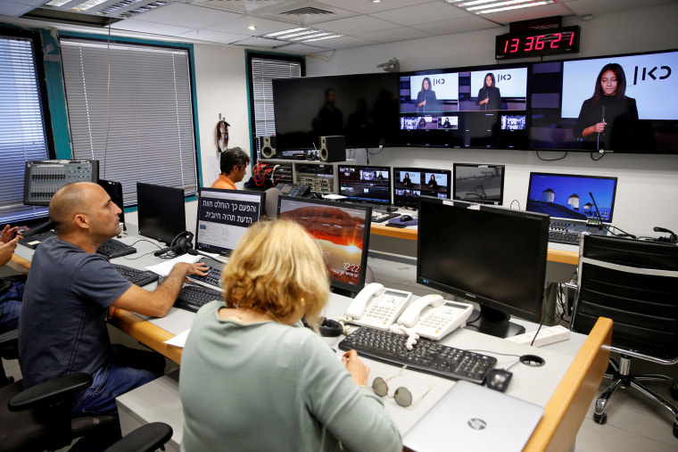 Image: The offices of Kan, the new Israeli Public Broadcasting Corporation, in Tel Aviv