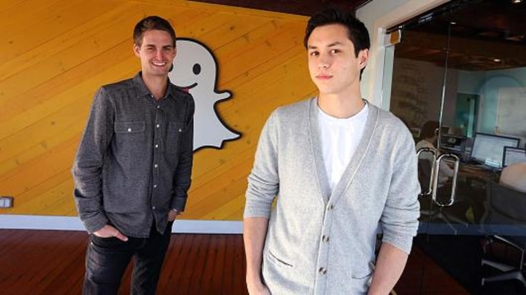 Evan Spiegel and Bobby Murphy, founders of Snapchat.