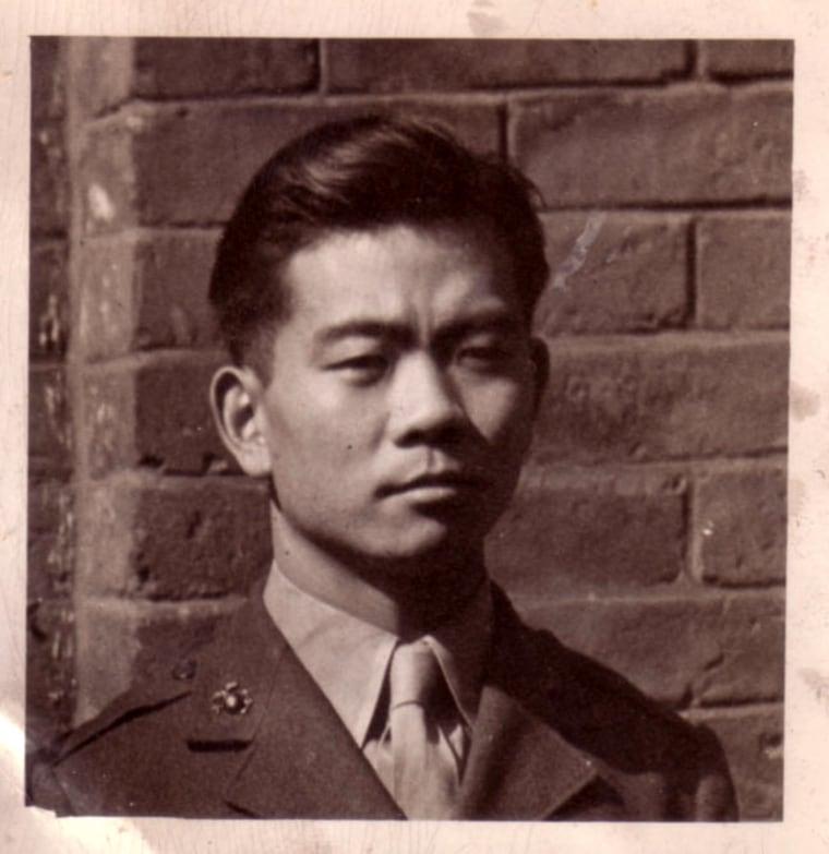 Ting Lou, a U.S. Marine who served in World War II