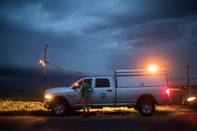 Image: Center For Severe Weather Research Scientists Search For Tornadoes To Study