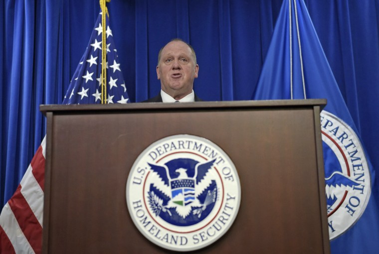 Image: U.S. Immigration and Customs Enforcement acting Director Thomas Homan