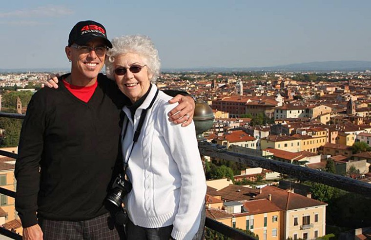 Image: Blake Irivng, founder of GoDaddy, pictured with his mother.