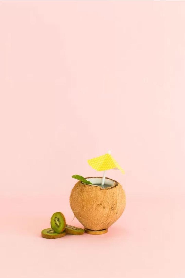Image: Coconut kiwi mint infused water