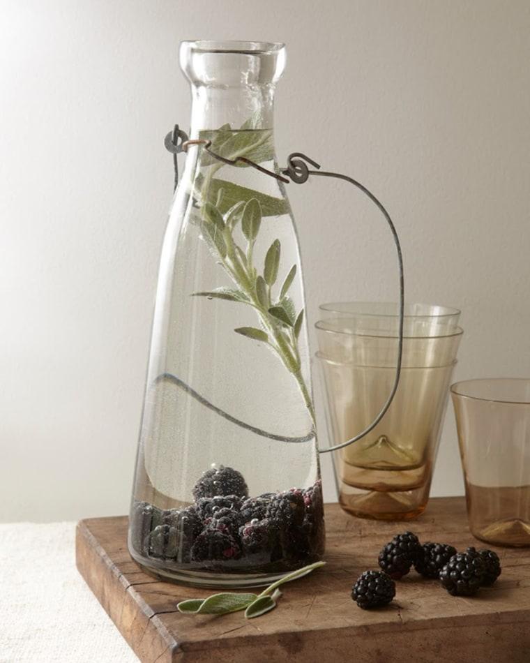 Image: Blackberry sage flavored water