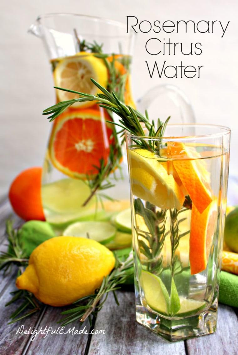 Image: Rosemary citrus water