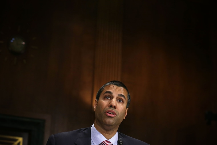 Image:  Federal Communications Commission Commissioner Ajit Pai testifies during a hearing before the Privacy, Technology and the Law Subcommittee of Senate Judiciary Committee