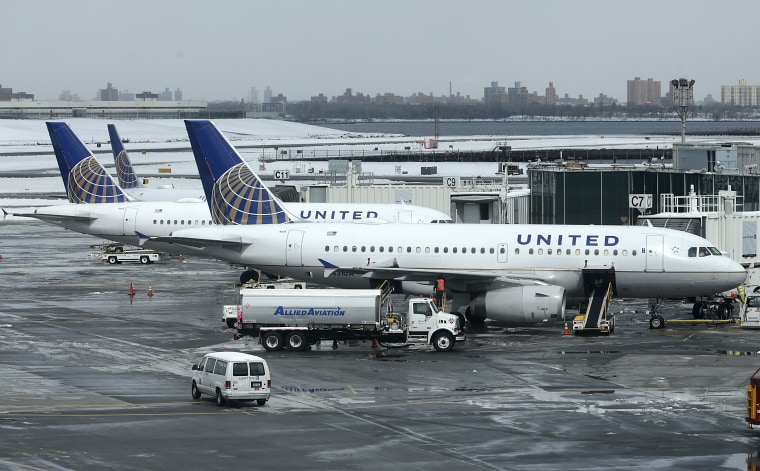 In this Wednesday, March 15, 2017, file photo, United Airlines jets sit on the tarmac at LaGuardia Airport in New York.
