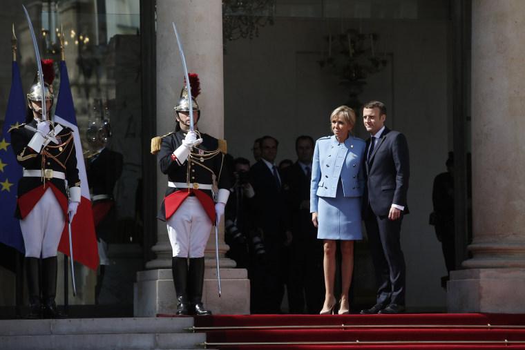 Image: Emmanuel Macron, Francois Hollande