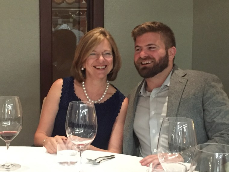 Marco Zappacosta, co-founder and CEO, Thumbtack, dines with his mother.
