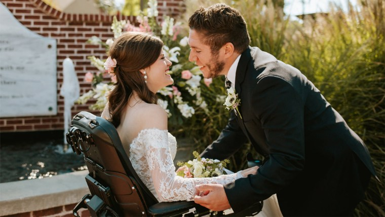 College sweethearts marry after car accident leaves bride a quadriplegic