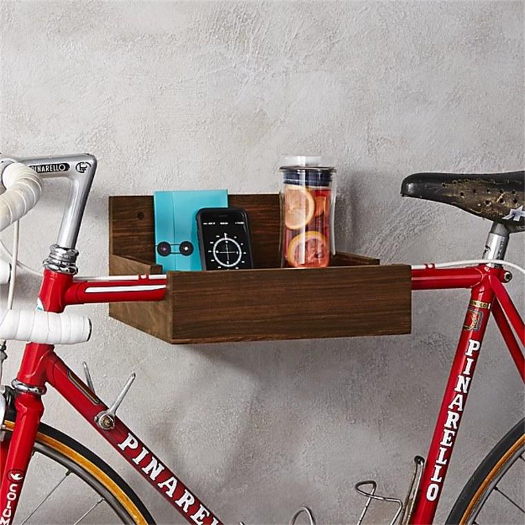 Wood Bike Storage