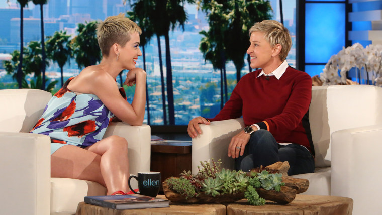Katy Perry and Ellen DeGeneres