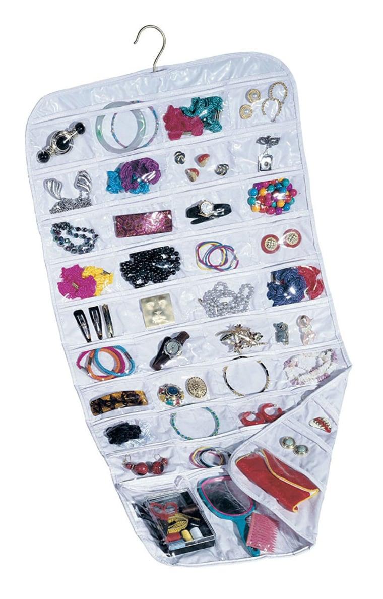 Hanging 80 Pocket jewelry Organizer