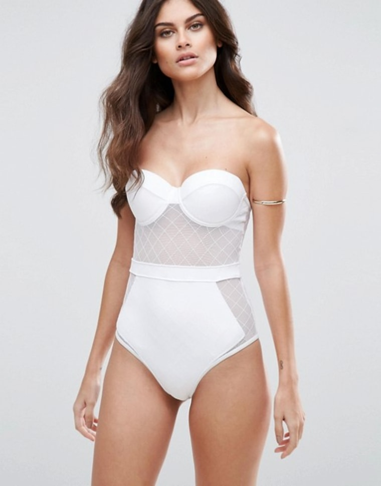 ASOS cupped one-piece swimsuit