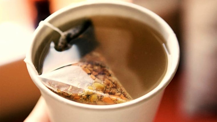 starbucks1/2 steamed lemonade + 1/2 hot water + #JadeCitrusMint green tea + #PeachTranquility herbal tea + honey. Combine. Sip.