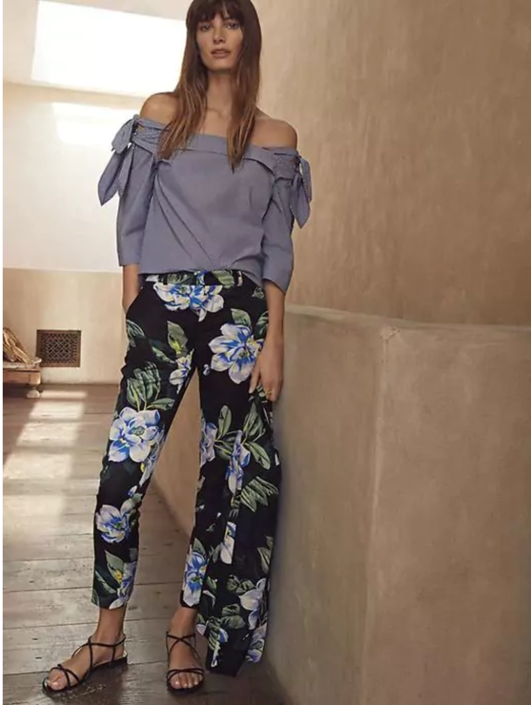 Banana Republic Top and Floral Pant