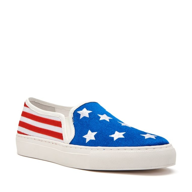 stars and bars sneaker slip on