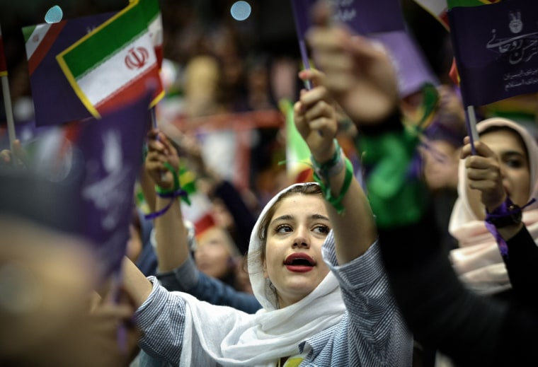 Image: Rouhani supporters at election rally