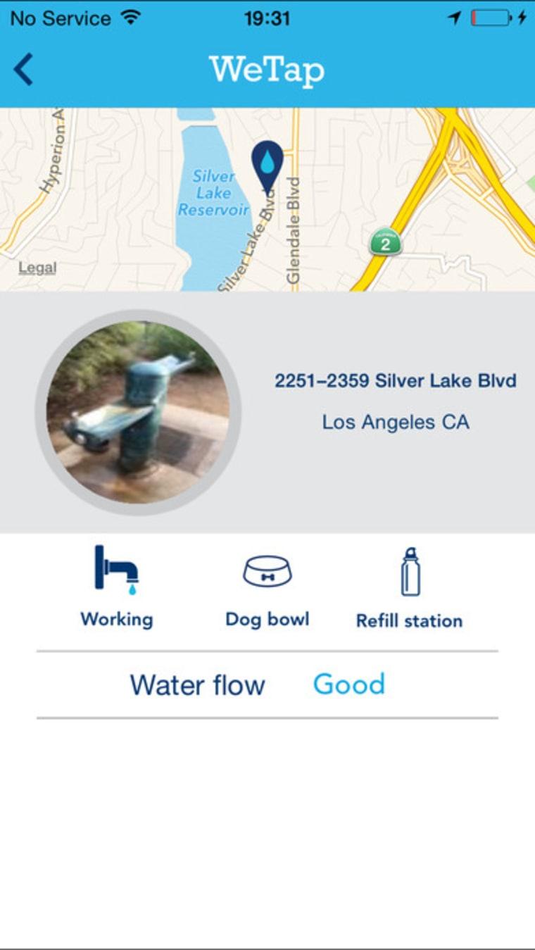 Image: WeTap Drinking Fountain Finder