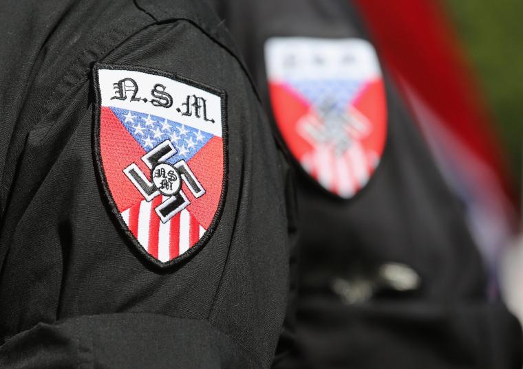 Image: Ku Klux Klan Holds Rally Outside South Carolina Statehouse