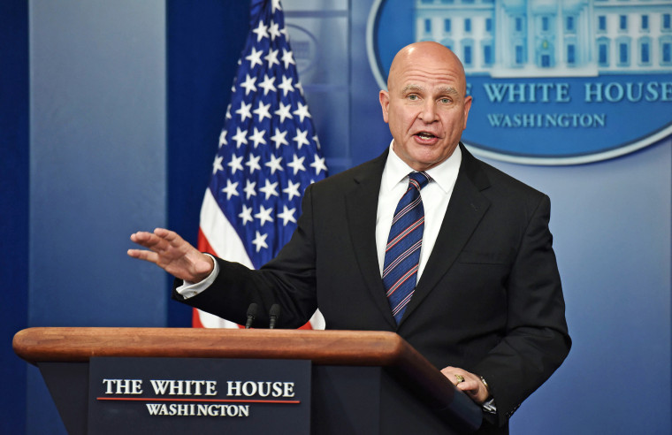 Image: National Security Advisor H. R. McMaster speaks during a press briefing at the White House