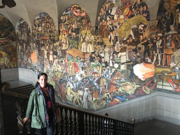 Damaly Gonzalez at the Palacio Nacional de Mexico in Mexico City.