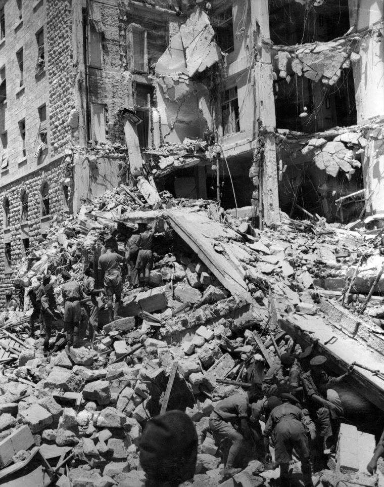 Image: Aftermath of King David Hotel bombing in 1946