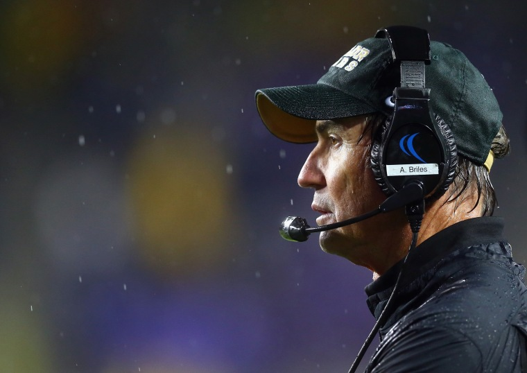 Image: Former head coach Art Briles of the Baylor Bears