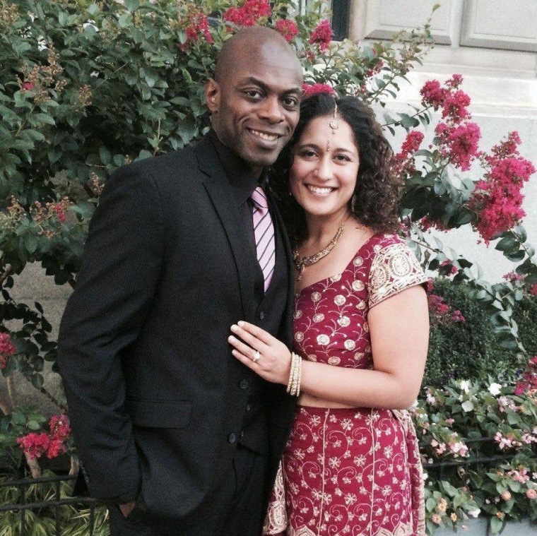 John B.Georges and his wife Mythily Kamath Georges married in 2015.