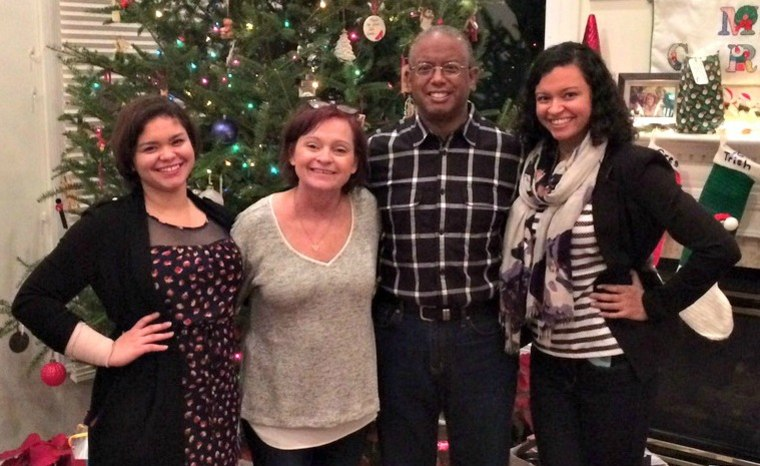 Claire, Kathleen, Richard and Emily Moss pictured at Christmas 2015.