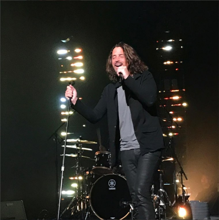 Chris Cornell performs at the Fox Theatre in Detroit on May 17.