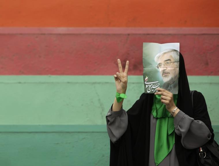 Image: Mousavi supporter