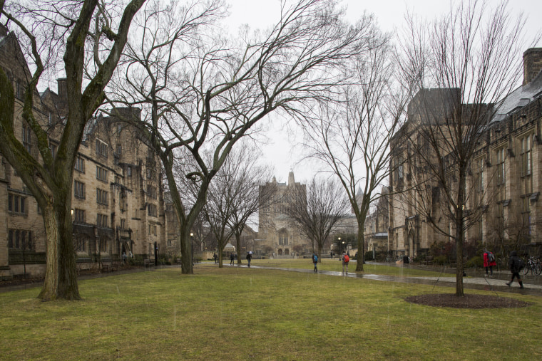 Yale University campus in February 2016.
