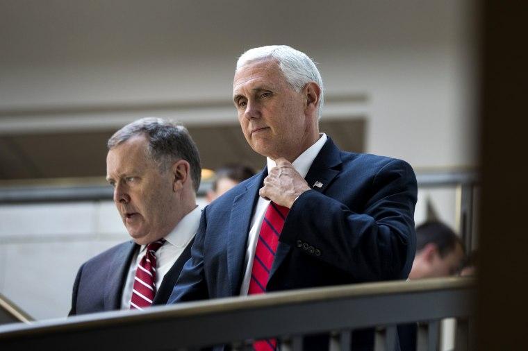 Image: Pence walks through the U.S. Capitol