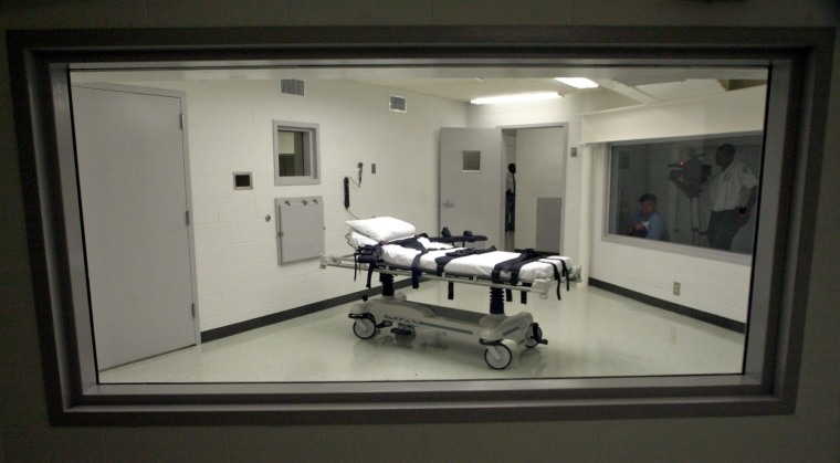 Image: Alabama's lethal injection chamber at Holman Correctional Facilit