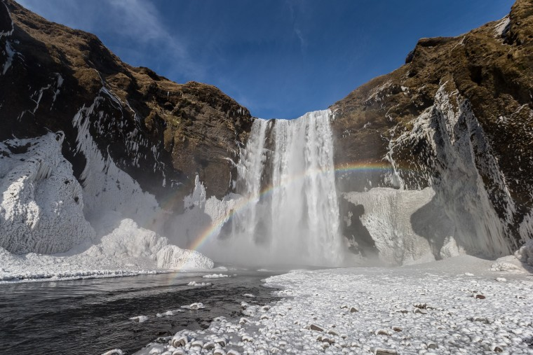 Iceland has stunning glaciers, waterfalls, volcanoes, lava fields, geothermal pools and geysers — and an erupting volcano, Eyjafjallajökull.