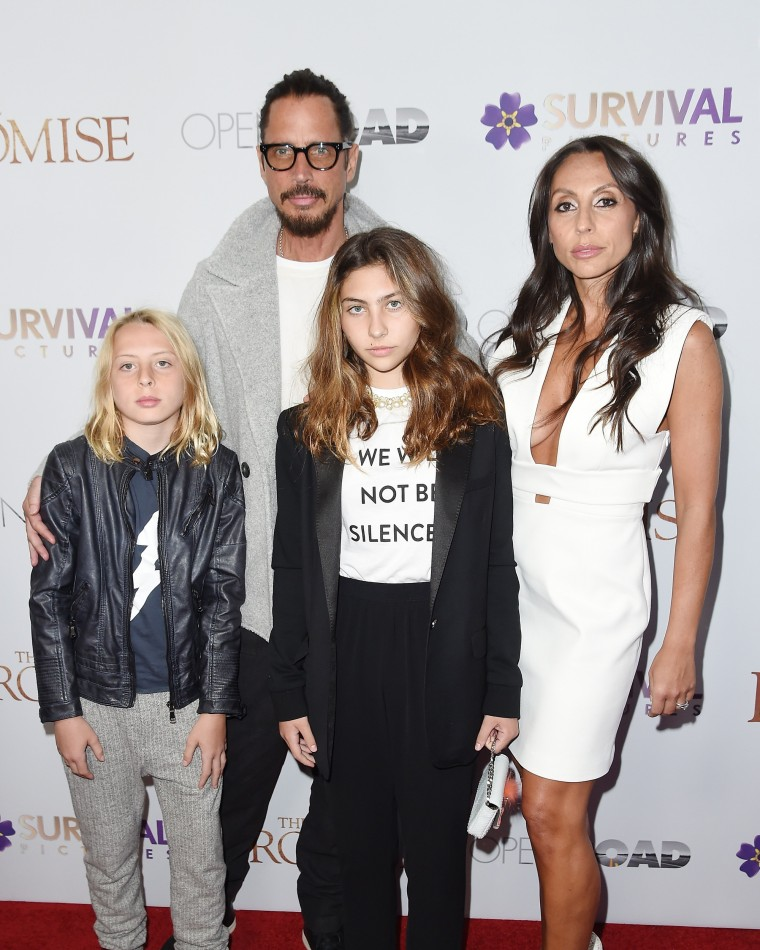 """Image: Chris Cornell and Family attend the  New York Screening of """"The Promise"""""""