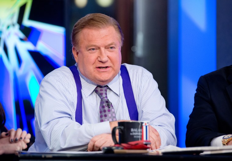"Image: Co-host Bob Beckel attends FOX News' ""The Five"""