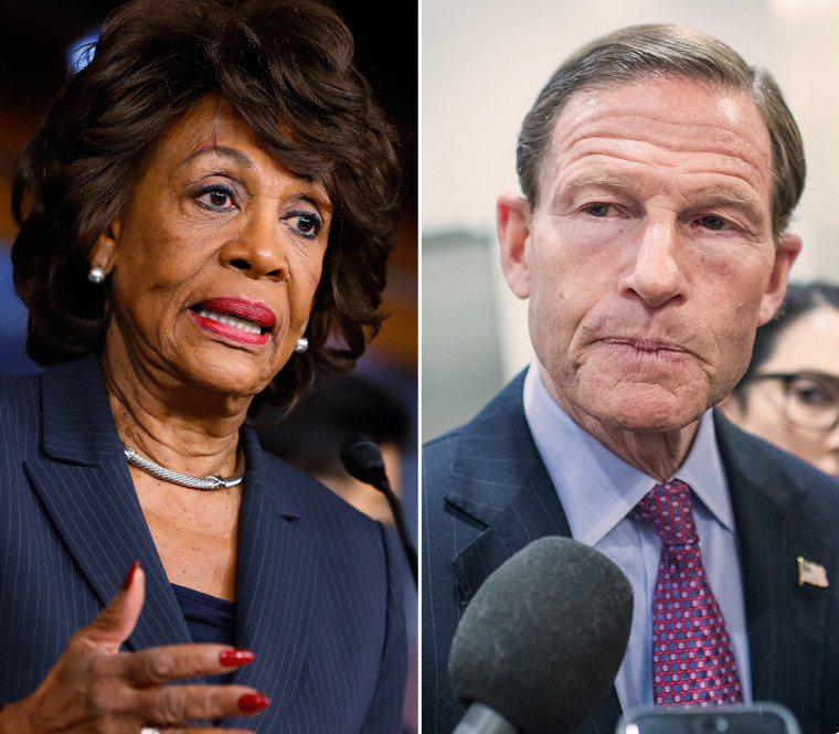 Rep. Maxine Waters and Sen. Richard Blumenthal