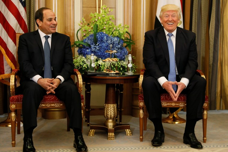 Image: Trump meets with Egypt's al-Sisi in Riyadh